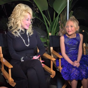 Dolly Parton and Alyvia Lind at MovieGuide Gala in LA