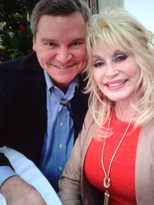 Dolly Parton and Sam Haskell at Studio City California