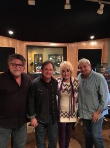 Dolly Parton cutting tracks with Kent Wells, Richard Dennison