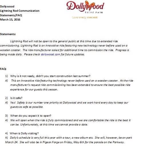 Dollywood letter