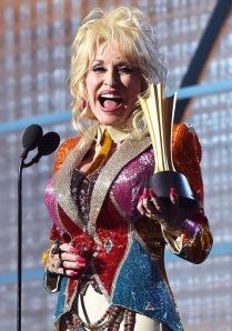 Dolly Parton recive Tex Ritter Award at ACM Awards 2016 in Las Vegas