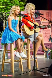 Dolly Parton and Alyvia Lind at Home & Family in Dollywood